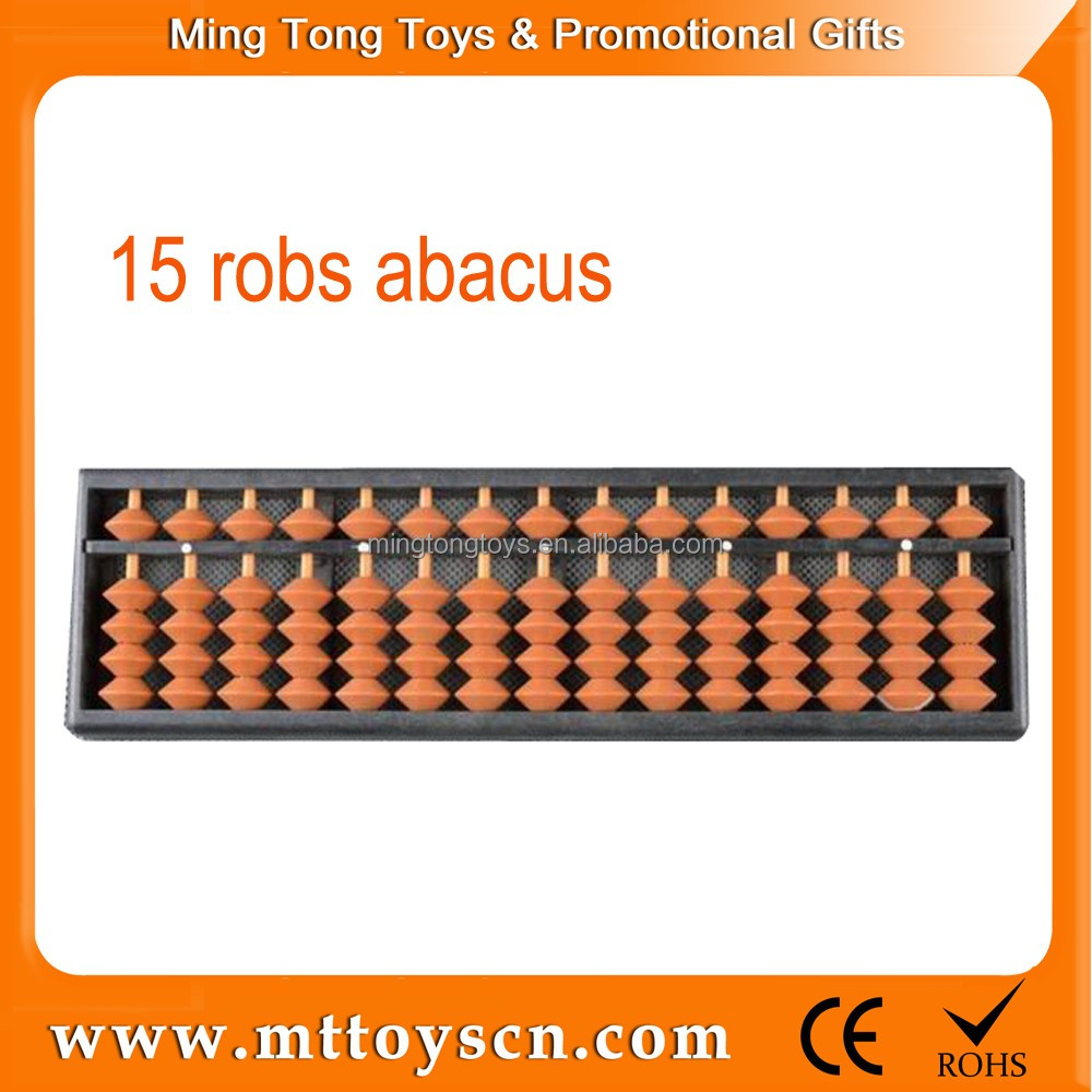 15 robs plastic children beads student abacus