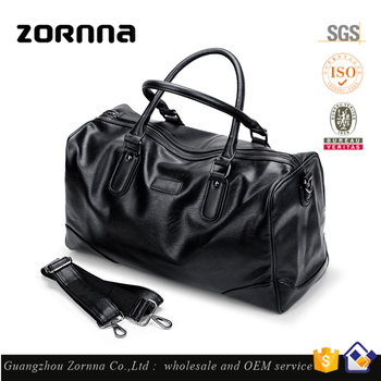 High Quality Synthetic Leather Weekend Gym Bags Men Travel Leather Duffle Bag