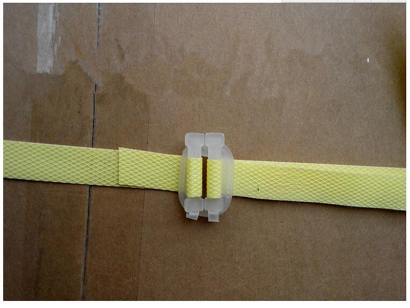 Plastic white packing strap buckle buy belt