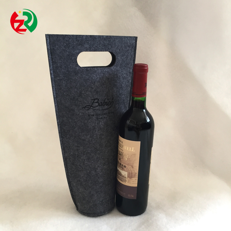 New arrival professional low price high quality felt wine tote bag cute felt bottle holder