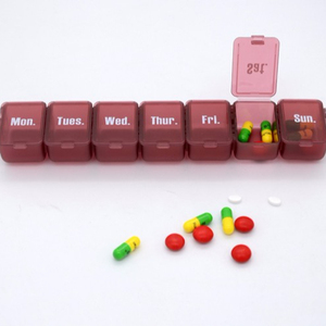 7 Day Push Button Weekly Pill Organizer Case Box,Holder Dispenser for Your Supplements