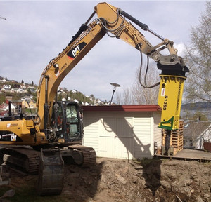 longer life silent type rammer hydraulic breaker for city project