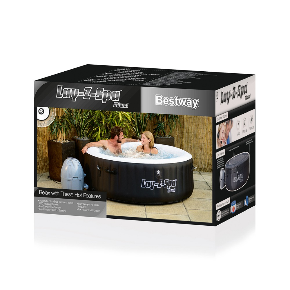 Bestway 54112 Lay Z Spa Vegas AirJet inflatable hot tub spa