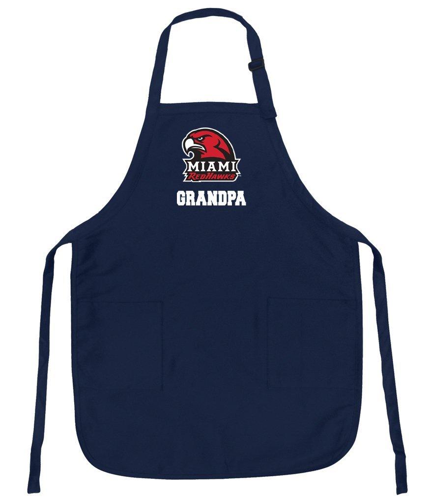 Miami University Grandpa Apron Miami RedHawks Grandpa APRONS for BBQ, Cooking, Kitchen