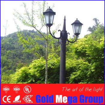 Double Arm Antique Style Garden Lighting Poles