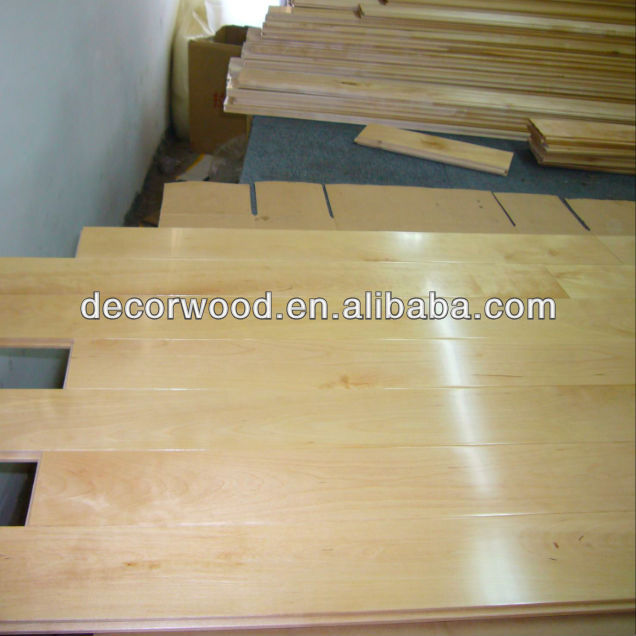Natural Color Asian Maple Solid Wood Flooring Buy Solid Wood
