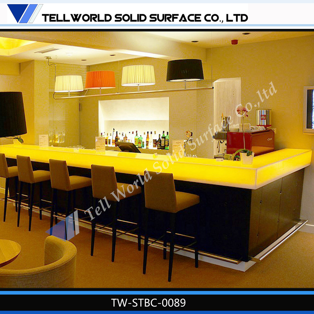 Modern Home Bar Furniture L Shape Home Bar Counter With Cabinet For Sale