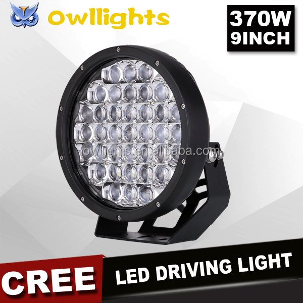 2017 Guangzhou 4x4 Auto Accessories 5D Super Bright Waterproof LED Light 9inch 370w Auto LED Car Headlight 4x4 Offroad LED Light