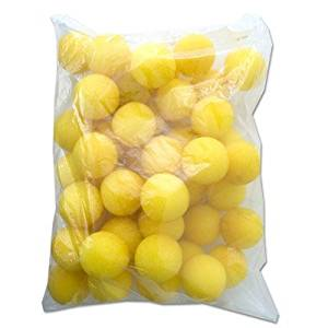 1.5'' 50 Super Soft Sponge Balls (Yellow) - Trick