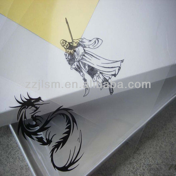 Plate making Clear PET Inkjet Plastic Digital Printing Film