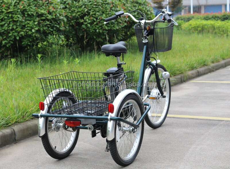 CE three wheel cargo motor bike, electric tricycle pedal assisted with low price for adults wholesale