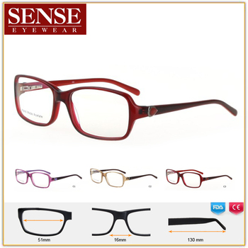 Various Colors French Eyeglass Frames With Acetate Titan Spectacle ...