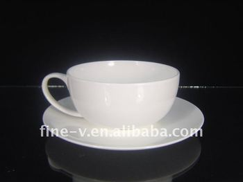 White Bone China Coffee Cup And Saucer Bowl Accept Customized Design
