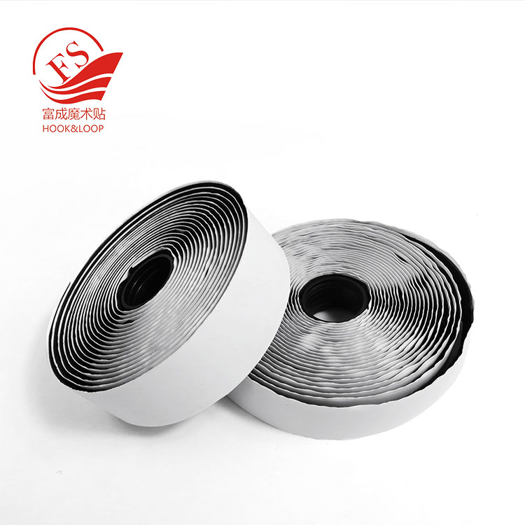 Custom Die Cutting Special Glued Adhesive Hook And Loop Tape klettband 20mm 38mm 50mm Width Wholesale