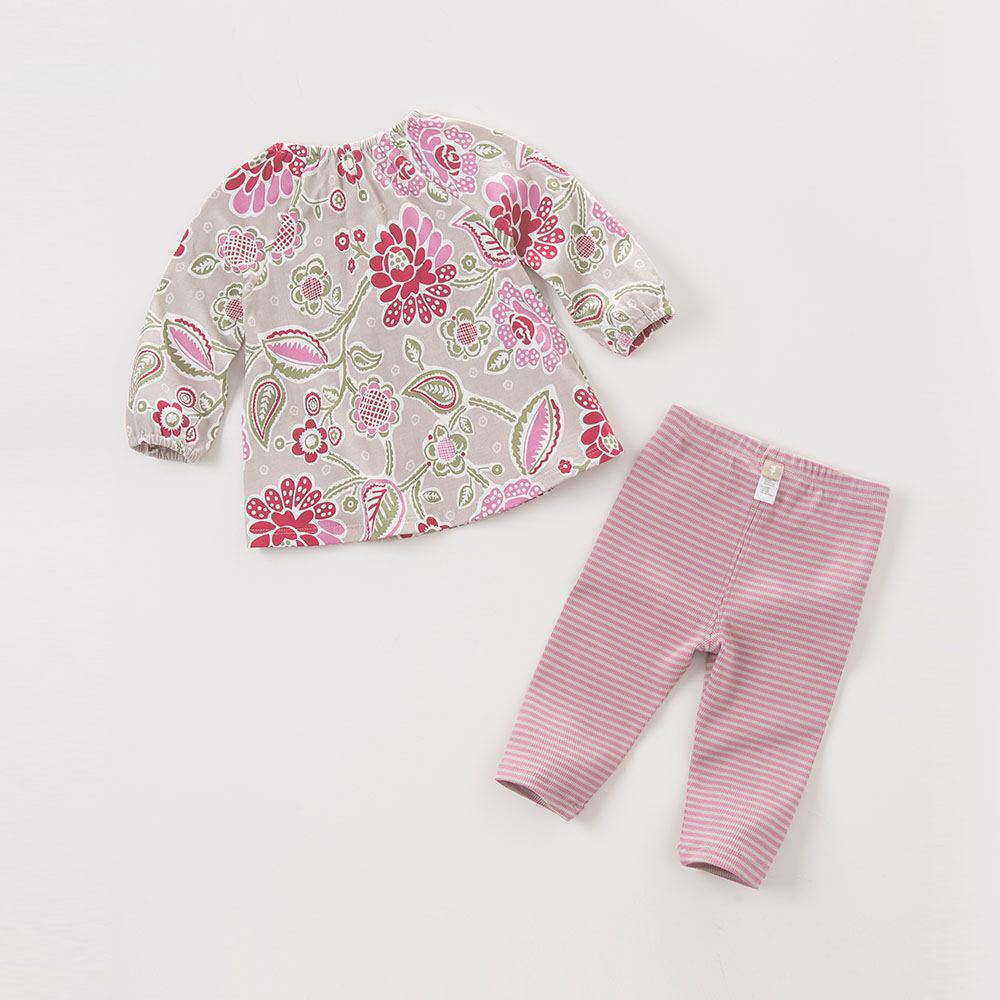DB5699 dave bella autumn baby girls floral clothing sets printed suit children clothing sets high quality clothes