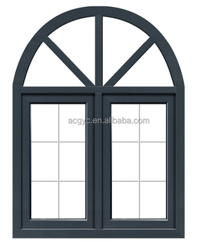 New Design Aluminum Frame Arch Glass Window