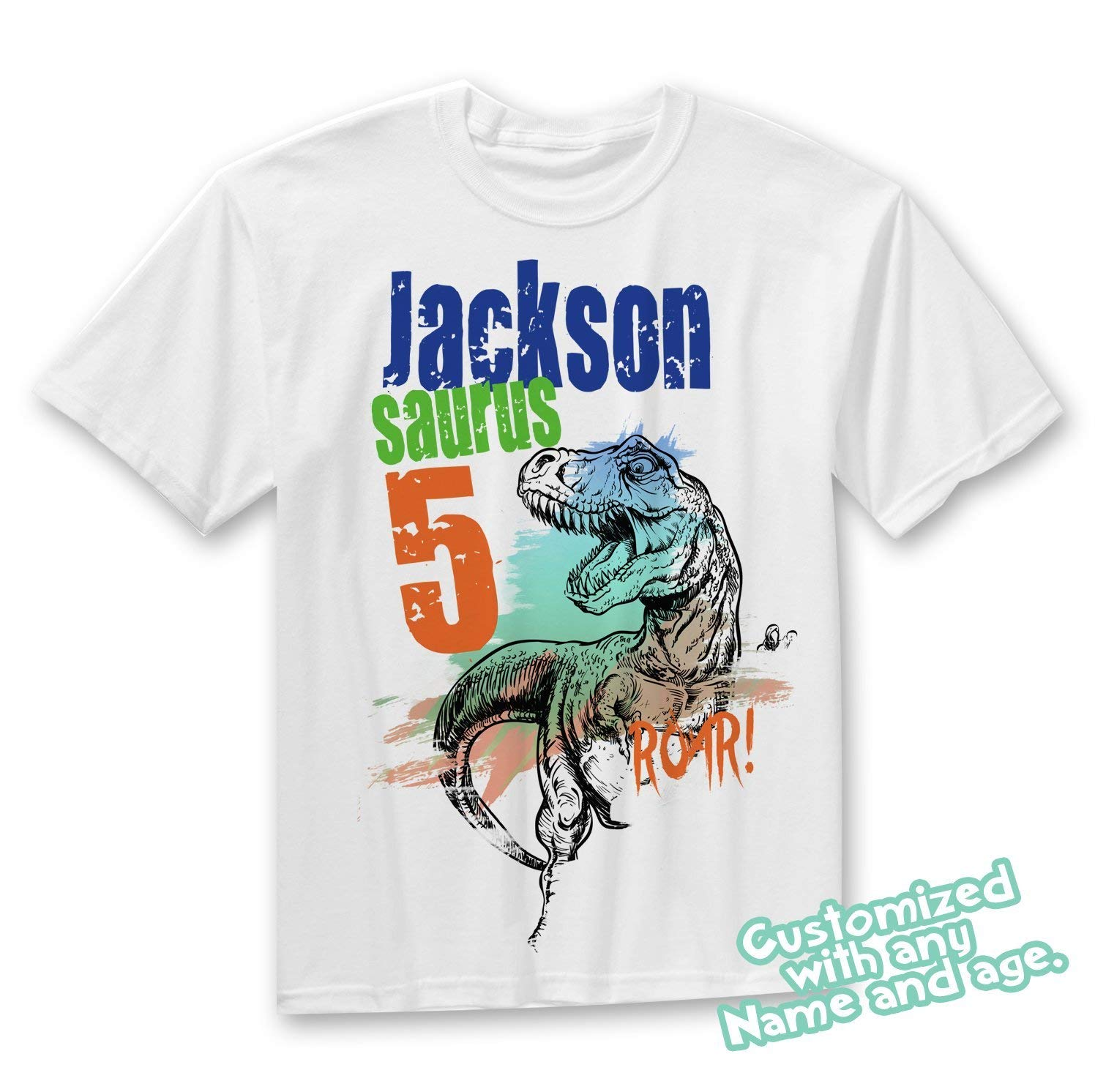 8914cf9f7b5 Get Quotations · Dinosaur Birthday Shirt