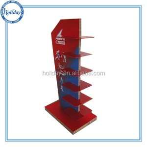 Cardboard Sports Shoes Display Stand , Shoe Display Shelving for Shoes , Retail Shoe Shelf Display