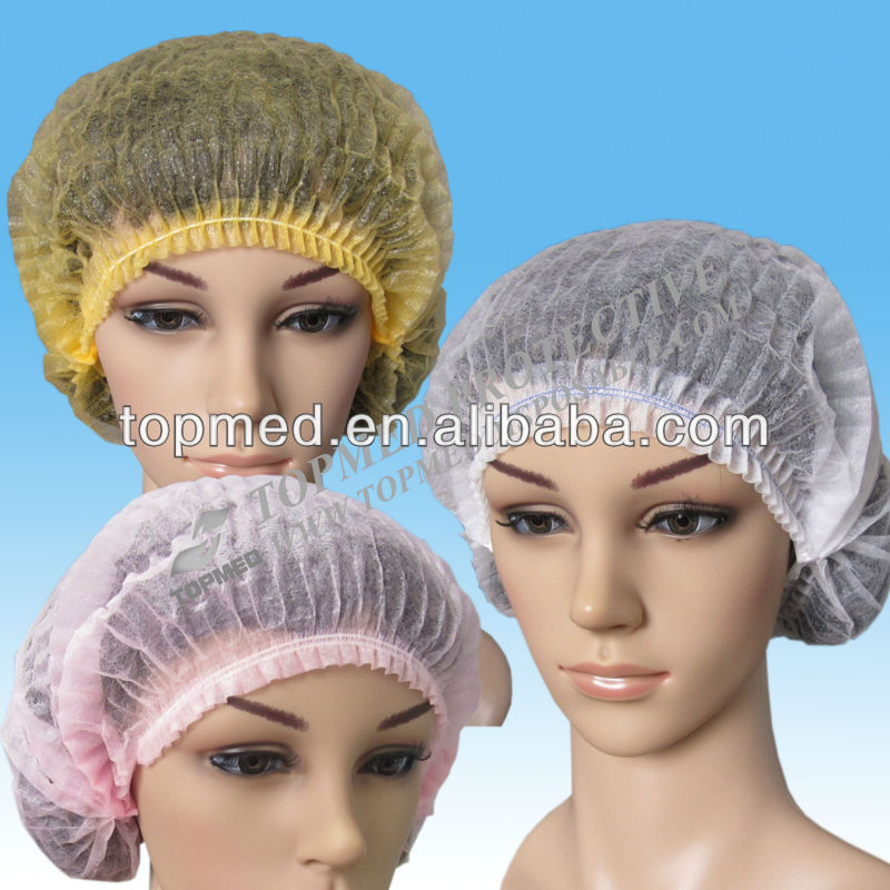 Hot! Nonwoven disposable nurse bouffant cap , Nonwoven nurse hairnet for hospital