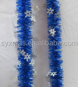 New Design Christmas ColoredTinsel Garland ornaments for decorated