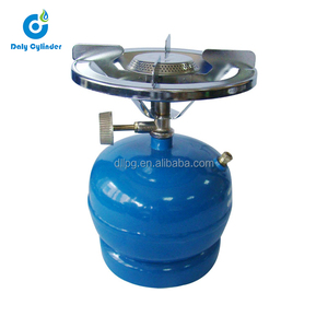 Empty camping 2kg lpg cylinder with burner for household