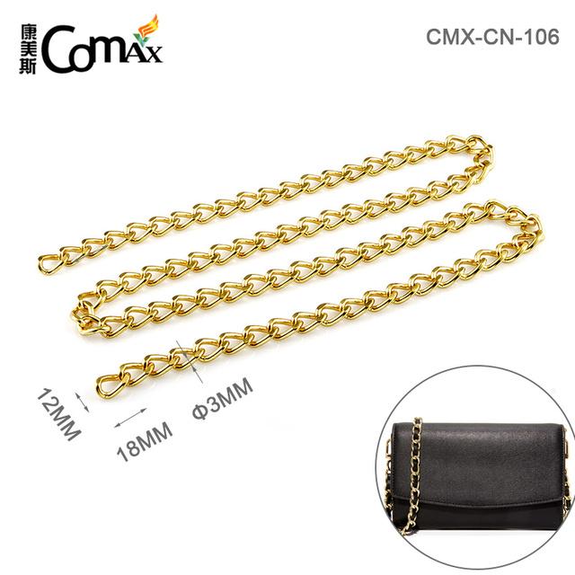 Fashion Las Handbag Accessories Gold Metal Chain