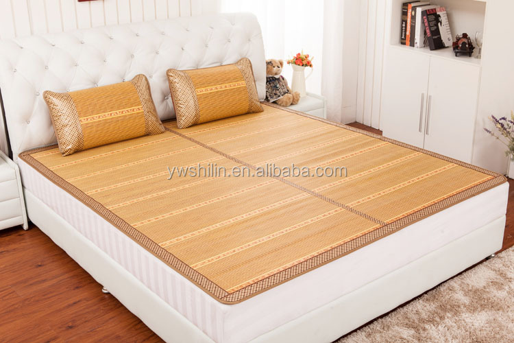 Roll Up Bamboo Bed Mat With Pillow Bamboo Sleeping Mat
