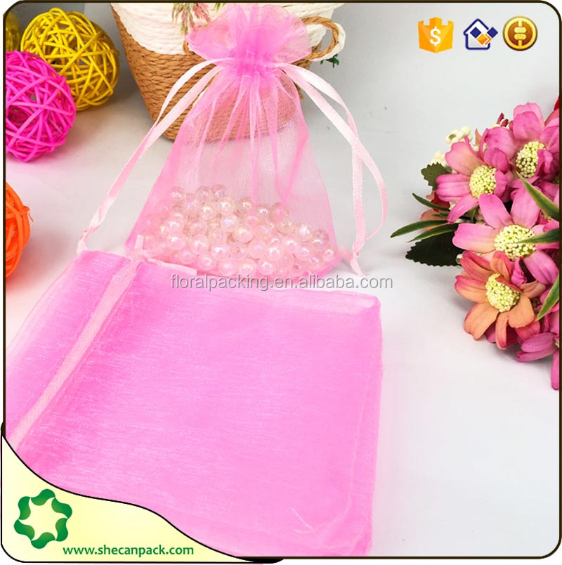 SHECAN organza bags with logo ribbon