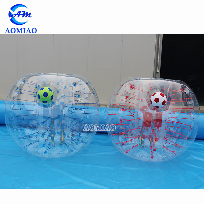 Inflatable Bumper Balls Bubble Soccer Suits With Porthole Front Opening
