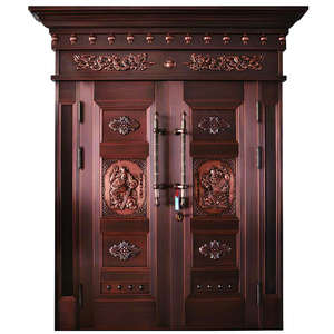 competitive price commercial royal style marble solid wooden door