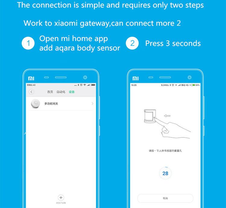 Aqara Xiaomi Brand Smart Home Security System Human Body Sensor with MIJIA  App WIFI Connect, View human body sensor, Aqara Product Details from