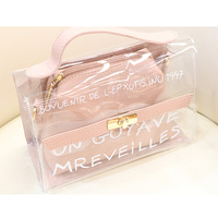 Transparent bag women 2018 summer new girls jelly hand bag personality creative hip-hop messenger trend