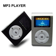 Fashion Lcd Screen MINI Clip MP3 Player Sport with Micro SD card Slot,Metal Mutilcolor Portable Mp3 Music Players (only mp3)