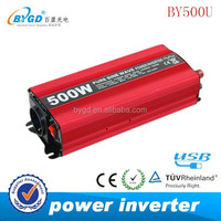 new DC/AC type solar power inverter 500w red color,pure sine wave