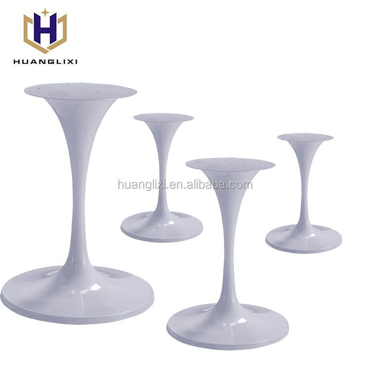 Heavy duty industrial metal cast iron dining crank tulip table bases for granite tops