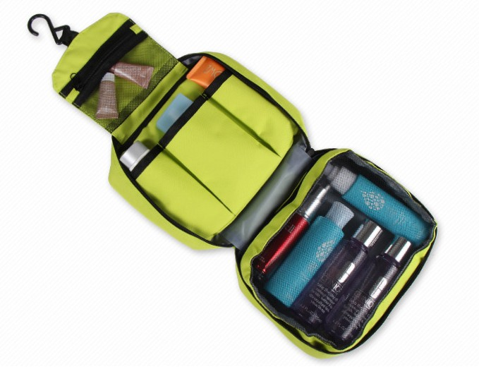 Portable folding travel toiletry bag makeup cosmetic bag