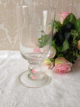 Hot Sale Glass Goblet Vase For Wedding Centerpieces And Red Wine