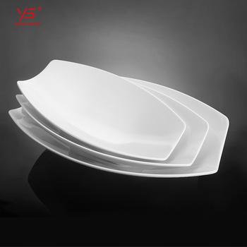 Elegant Earance Muslim White Melamine Plates Bulk Bmelamine Dish Oval Plate