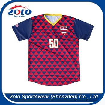 Factory direct supplier reversible no logo cheap soccer uniforms from china