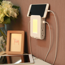 Multifunction LED 2.1A Night Light With Charging Socket Plug 4AC Outlets AC