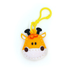 Custom Charming Round Shape Mini Plush Animal Toys Cute Filled Giraffe Keychain Plush Toy