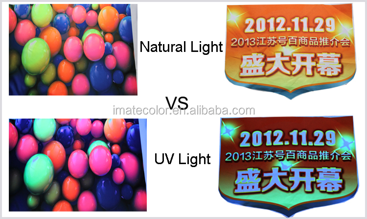 Magenta and Yellow Fluorescent Dye Sublimation ink