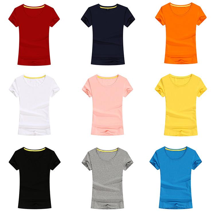 af1300577 Promocional cuello redondo publicidad personalizada en blanco liso 100%  algodón camiseta