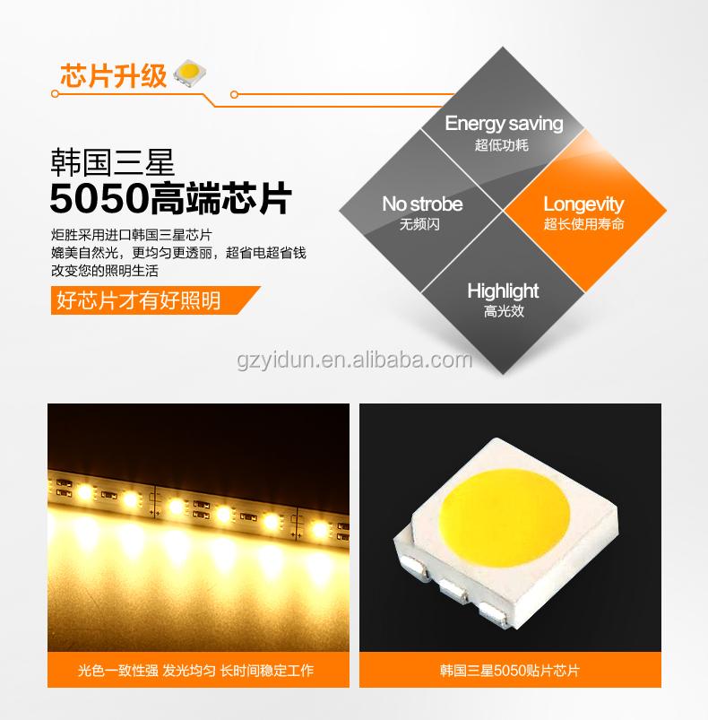 7 w 630lm multifunctionele rvs led wandlamp make up verlichting