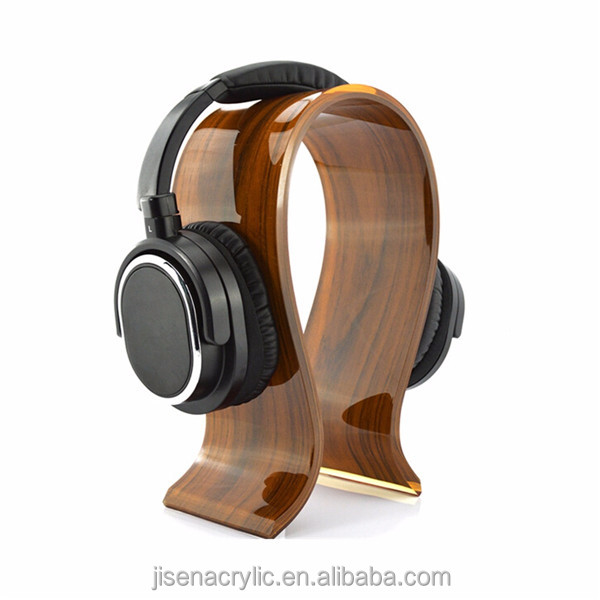Jisen Wooden acrylic headphone stand 8mm for large headset stand