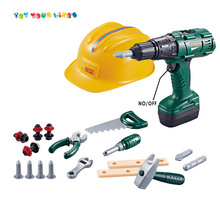 Simulation electric super power drill bricolage tools set plastic construction tool toys