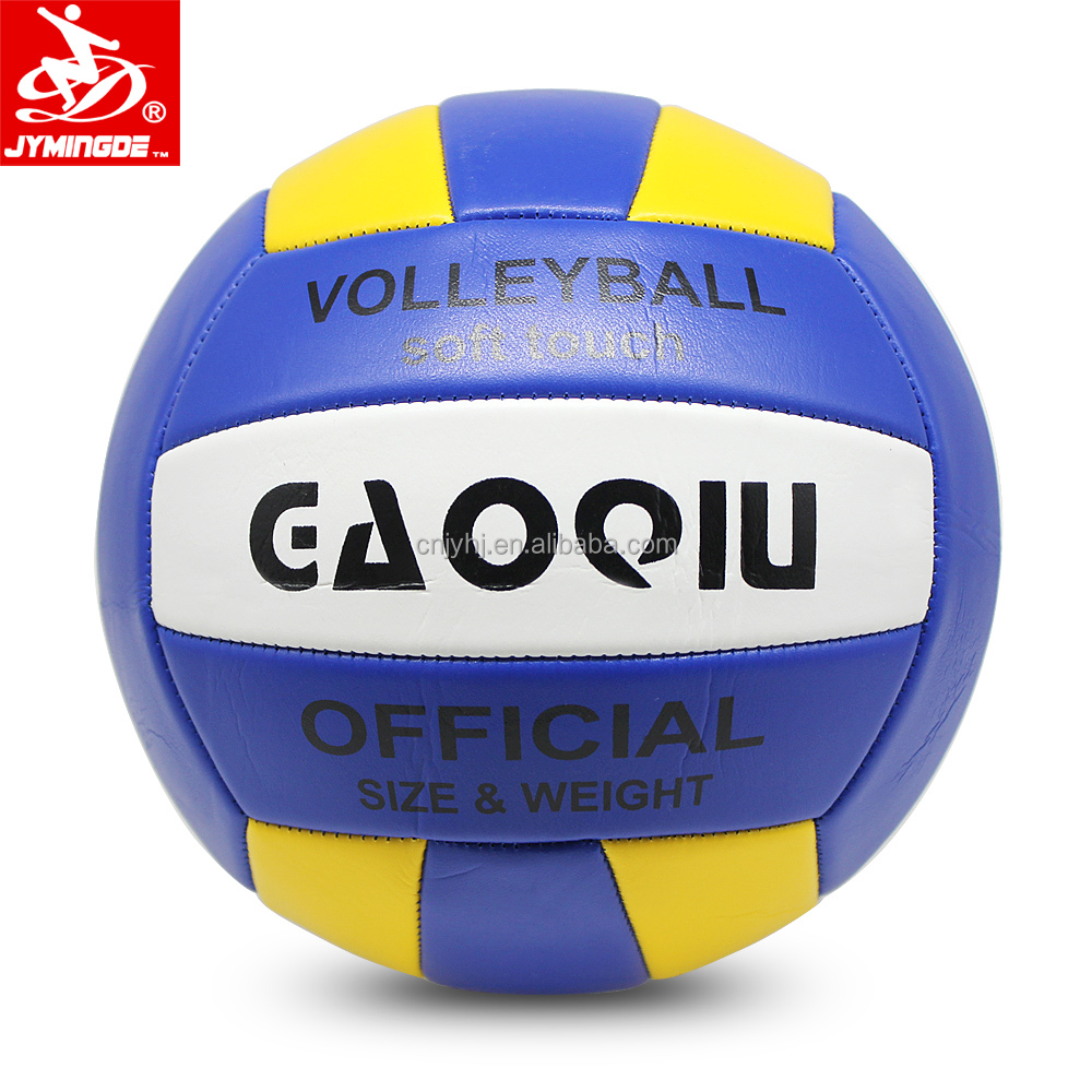 Bola de voleibol de alta qualidade tamanho 5 máquina impressa personalizada costurada voleibol