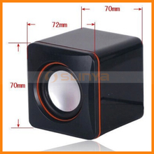Promotion Print Logo Mini Audio Cube USB 3W Stereo Speaker