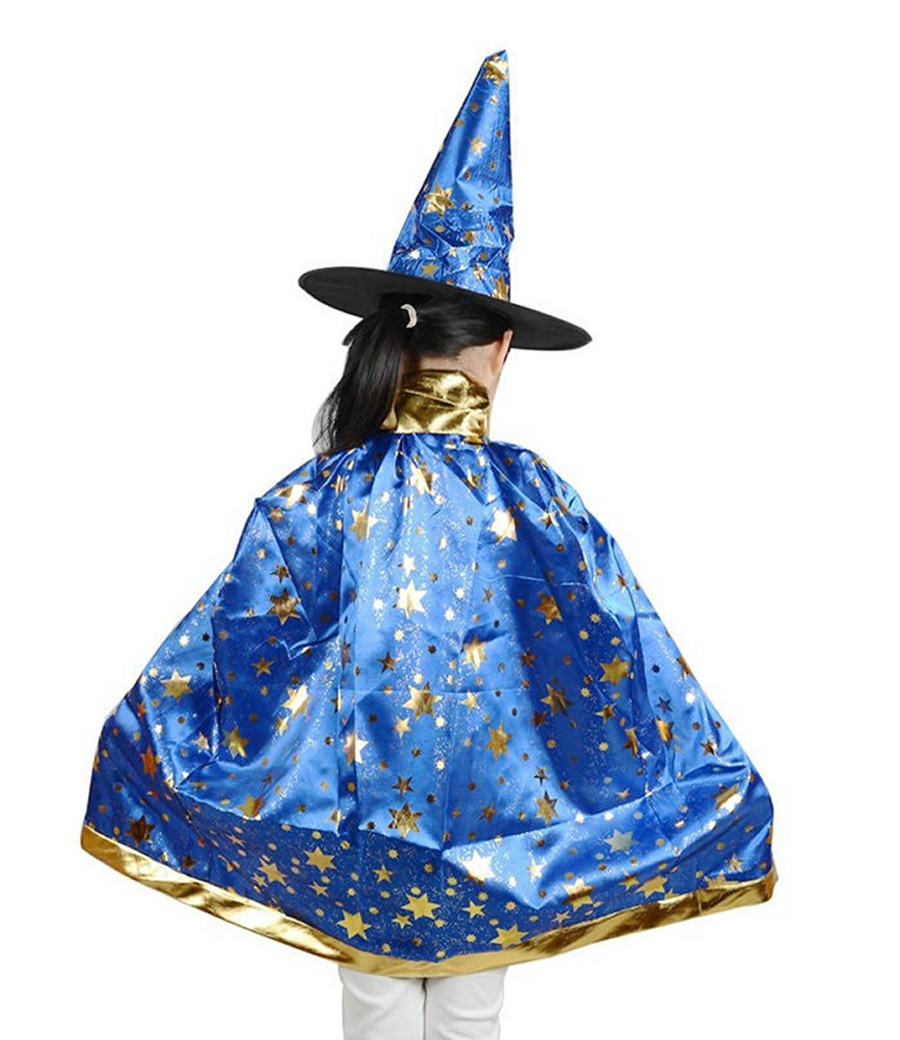 6a36de7264f Get Quotations · Teddy Spirit Halloween Costumes Witch Wizard Cloak with Hat  for Kids Boys Girls