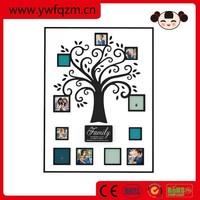 Wall wooden family tree photo frame